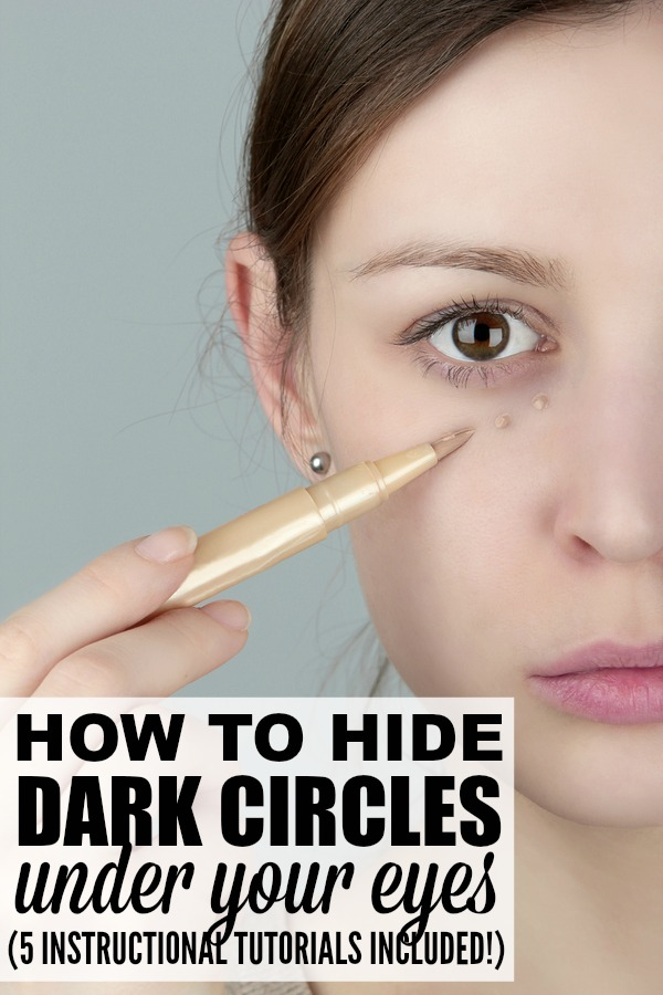 Under eye circles got you down? No worries! This collection of 5 fabulous makeup tutorials will teach you how to cover dark circles PROPERLY. Each tutorial is packed with fabulous concealer tricks to teach you how to use under eye concealer, and they also provide great product recommendations. Oh, and if you are more of a natural gal and want to treat the root of the problem rather than applying gobs of makeup each morning, check out tutorial # 1!