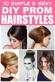easy diy prom hairstyles