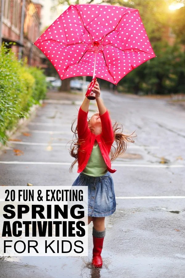 With the end of winter (finally!) in sight, this collection of spring activities for kids is sure to get you and your little ones excited about the end of the cold and snowy weather! This list includes lots of indoor activities for bad weather days as well as outdoor activities to help combat cabin fever. Enjoy!