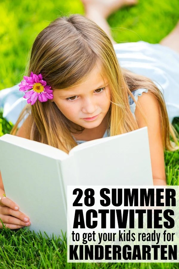If you're looking for easy summer activities to help your kids avoid summer slide and get ready for kindergarten, or just need some good boredom busters for sunny summer afternoons, this collection of summer activities has you covered!