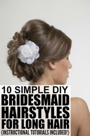 bridesmaid hairstyles long