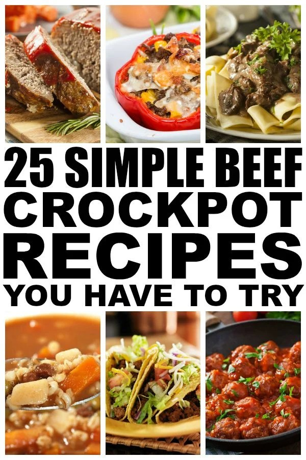Need dinner ideas, but don't have a ton of time to slave over the stove after a long day? Me too! And that's why I put together this AWESOME collection of beef crockpot recipes. They take next to no time to prepare, taste fabulous, and make great leftovers for lunch the following day!