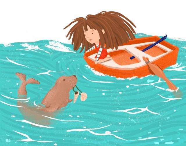 Büyülü Deniz, çizer Melike Şen, yazar, İrem Sunar Özat, Nesin Yayınevi, çocuk edebiyatı, roman, yeni çıkan, çocuk kitapları, en çok okunan, en popüler, fantastik, komik, macera, romanı, deniz, doğa, ekoloji, deniz canlıları, denizci,