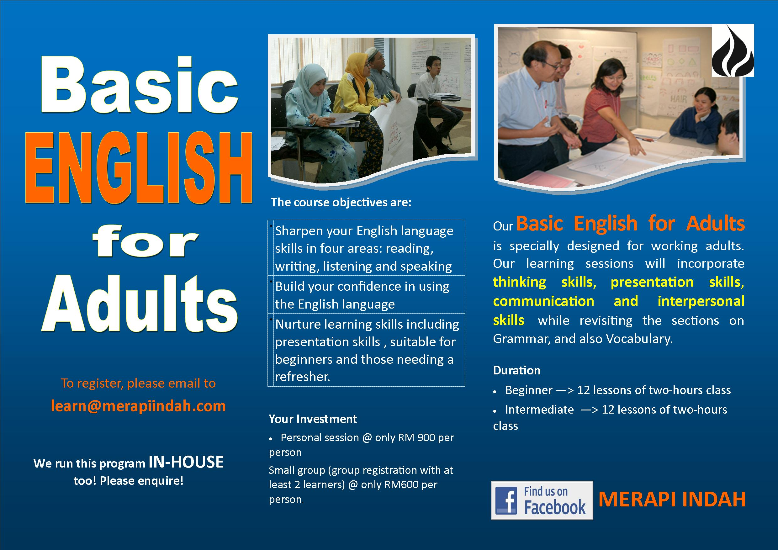 Basic English For Adults