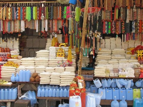 Shops at the ghat