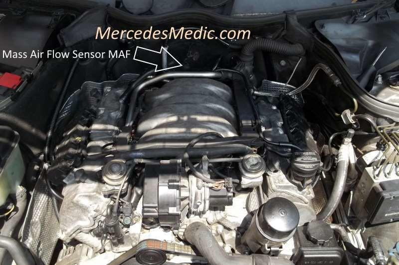 2002 Cl500 Fuse Diagram How To Replace Mass Air Flow Maf Sensor Mercedes Benz V6