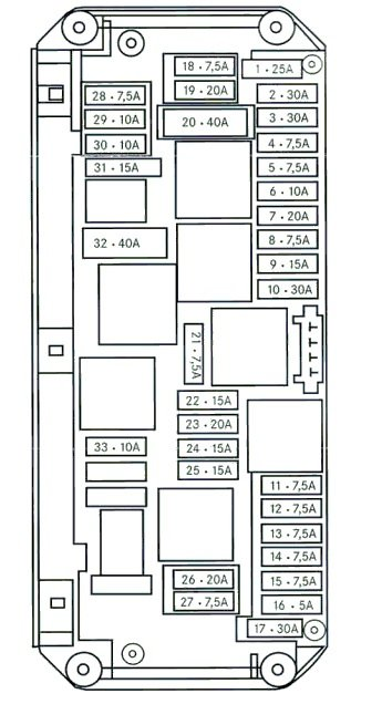 2003 E200 Fuse Board Diagram