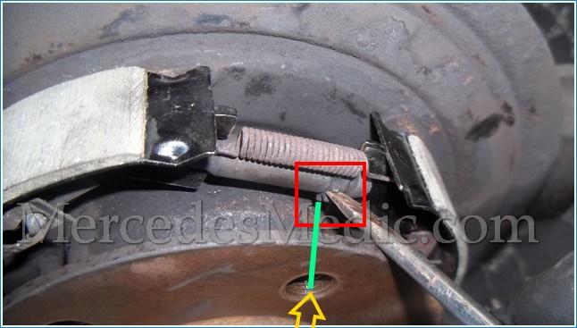mercedes benz sprinter wiring diagram toyota fj40 replace emergency brake shoes, parking – mb medic