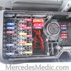 Kenworth W900 Turn Signal Wiring Diagram Heating And Cooling Thermostat E Class (1996-2002) W210 Fuse Box Chart Location Designation – Mb Medic