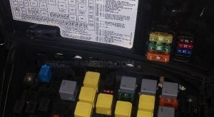 FUSE BOX 19982005 MercedesBenz ML Location Diagram