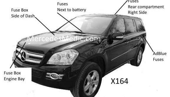 airbag suspension valve wiring diagram bohr model gl fuse chart 2007-2012 x164 diagram, chart, location