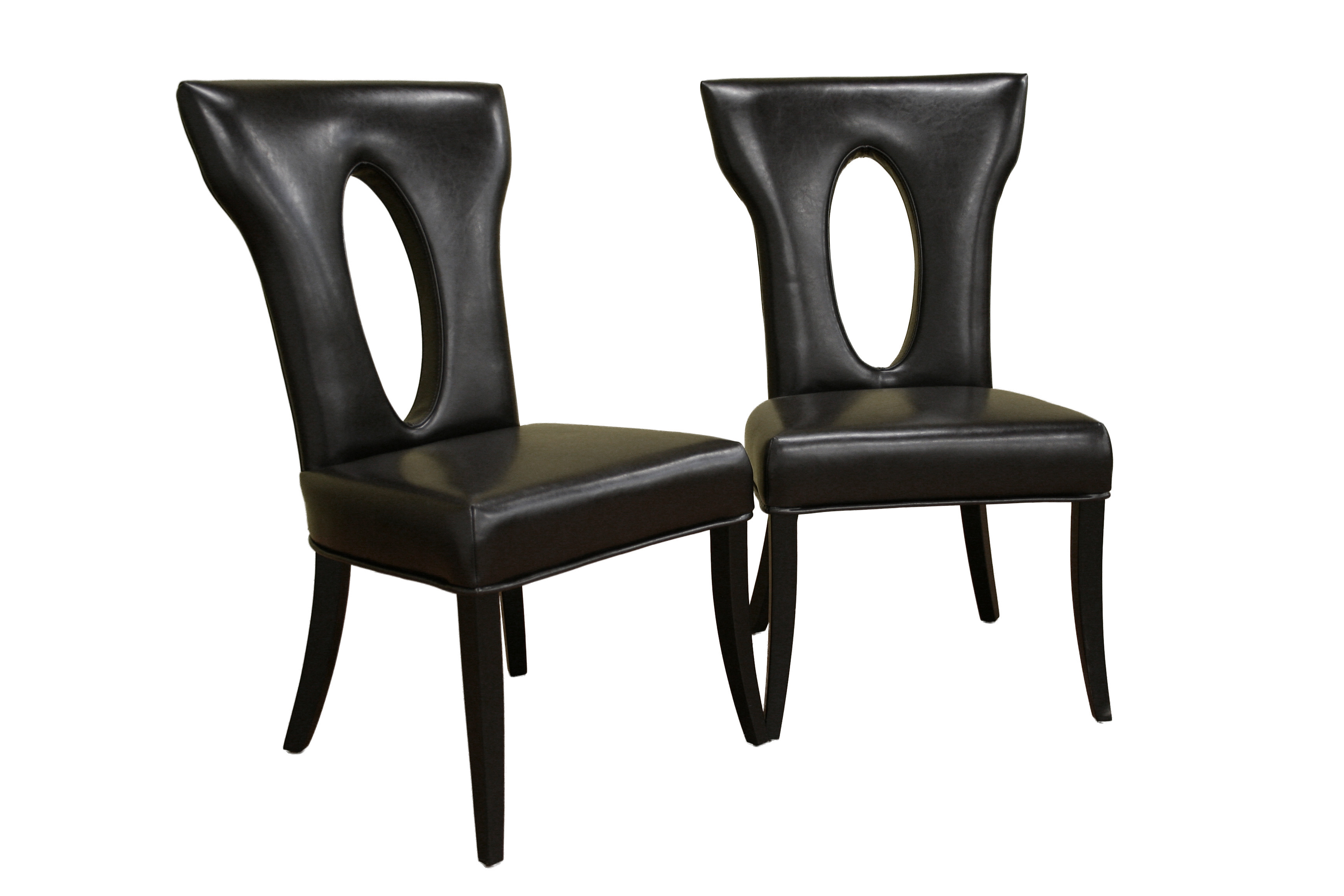 Black Leather Dining Chairs Black High Back Dining Chairs Chair Pads And Cushions