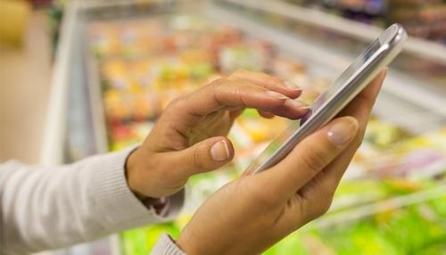 Venda online dentro do supermercado