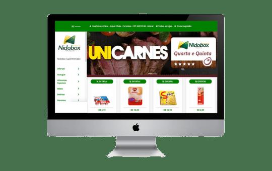 Site para supermercado online