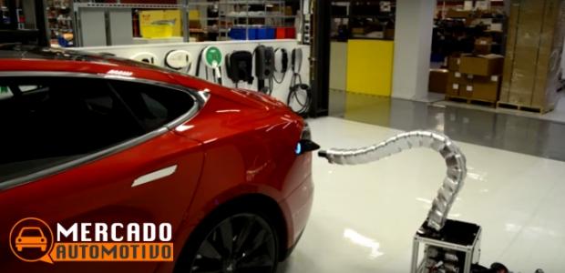 Tesla apresenta um novo carregador de carro automático