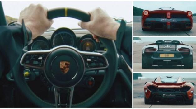Corrida alucinante: McLaren P1, LaFerrari e Porsche 918 Spyder