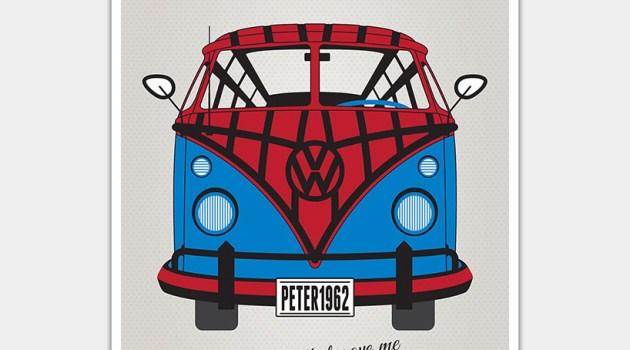 Cartazes da Volkswagen retratam como seriam as Kombis de alguns super-heróis