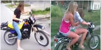 Quando as mulheres não sabem andar de moto