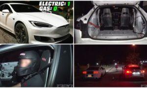Tesla Model S P100D deixa pra trás carros a gasolina em arrancada