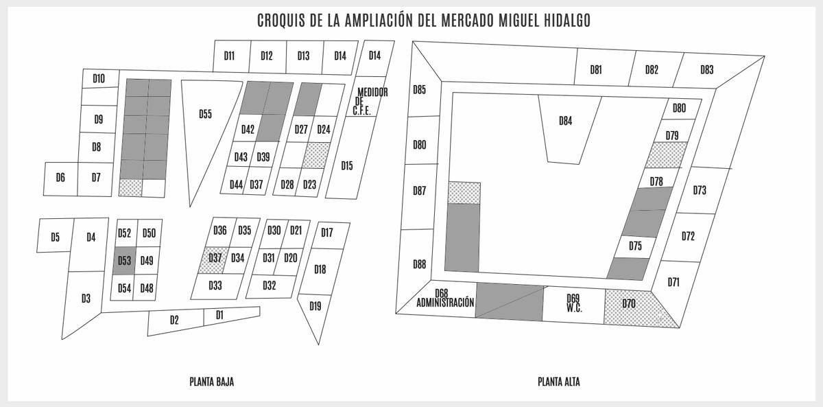 Croquis Mercado Miguel Hidalgo