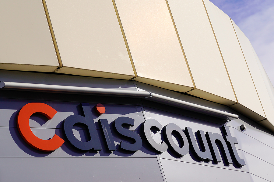 Bordeaux , Aquitaine / France - 12 12 2019 : Cdiscount Marketplace Cdiscount.com sign logo brand of Internet distribution shop of products store services