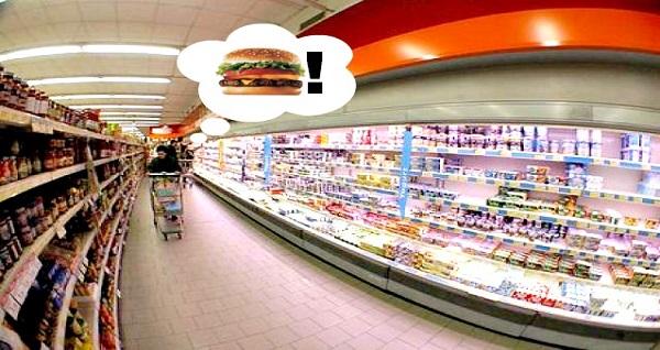 Procure fazer refeições antes de ir ao supermercado