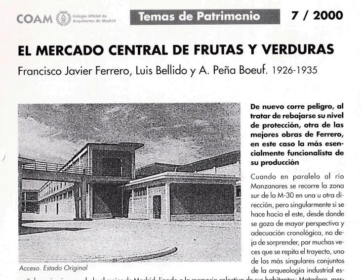 El Mercado Central de Frutas y Verduras