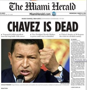 Muerte de Chavez- Miami Herald