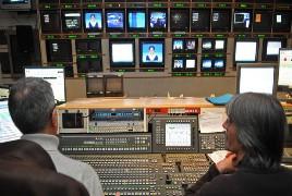 TV estudio de Bloomberg