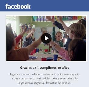 Facebook - 10 años