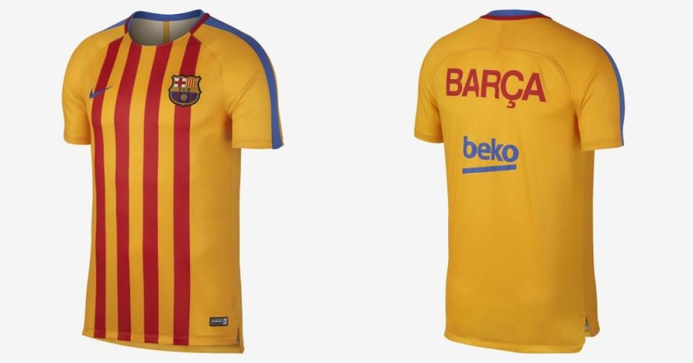 38cd87561 Barça recupera la bandera senyera en su uniforme - Mercadotecnia y ...