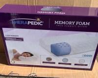 therapedic memory foam neck pillow