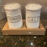 Thl Farmhouse Shabby Chic Salt Pepper Shakers New Free Shipping