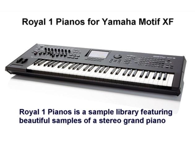 ROYAL 1 PIANOS para Yamaha Motif XS, Motif XF, Moxf y