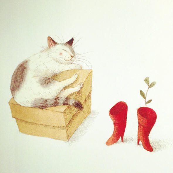 Il gatto con gli stivali rossi