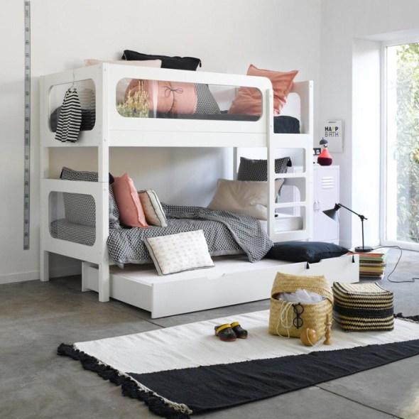 bunk bed white AMPM