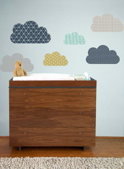 GeoClouds, adesivi vintage di TheLovelyWall