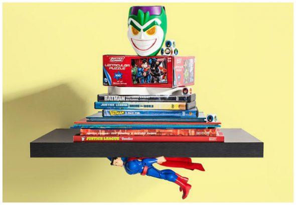 mensola fai da te con superman