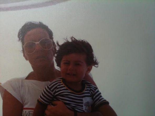Io e mia mamma nel 1989