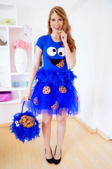 cookie monster costume diy