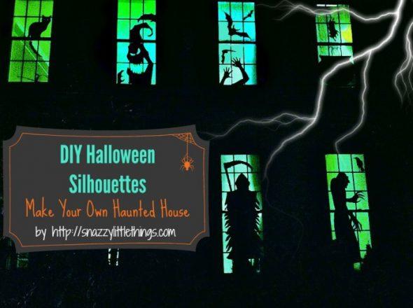 slihouettes halloween frre print