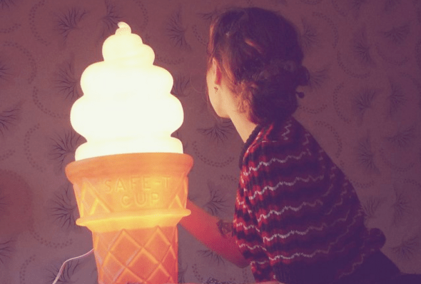 icecream cone lamp
