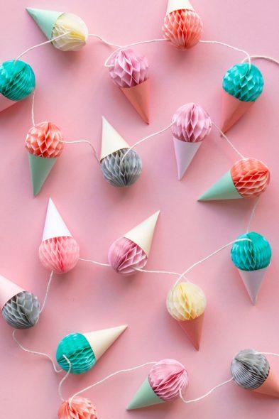 diy-mini-honeycomb-ice-cream-garland