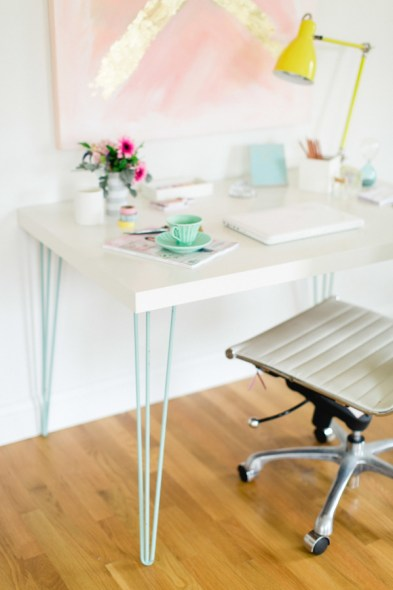 ikea desk and hairpin legs