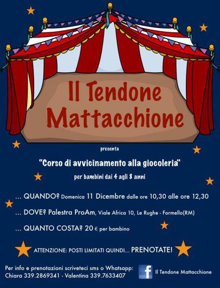 Il Tendone Mattacchione, corso di giocoleria per bambini