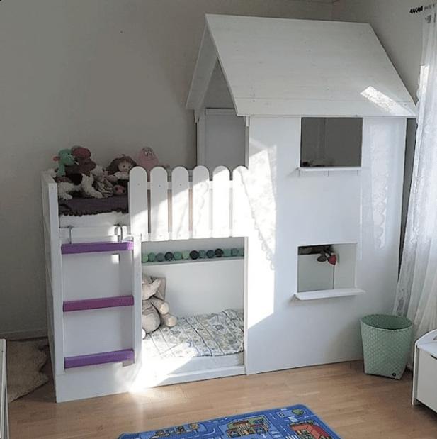 20 idee per trasformare il letto kura di ikea mercatino dei piccoli. Black Bedroom Furniture Sets. Home Design Ideas