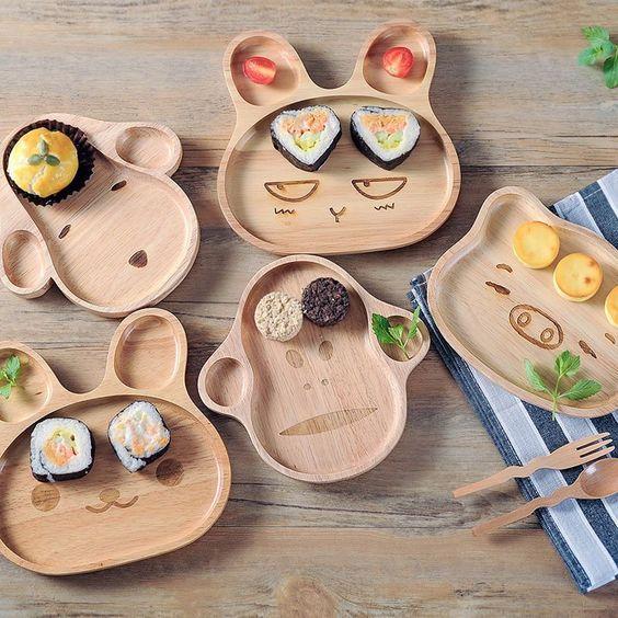 piatti legno animali