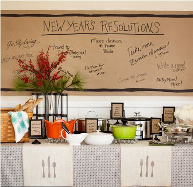 cartellone con i propositi per l'anno nuovo