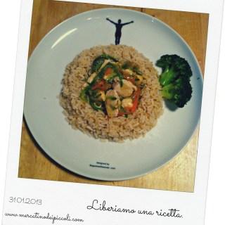 Liberiamo una ricetta: dadini di pollo con verdure saltate