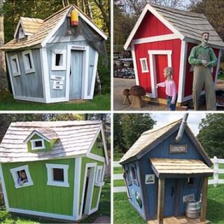 Casette da giardino in stile cartoon